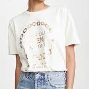 NWOT Anine Bing Ringo Gold T Shirt - S